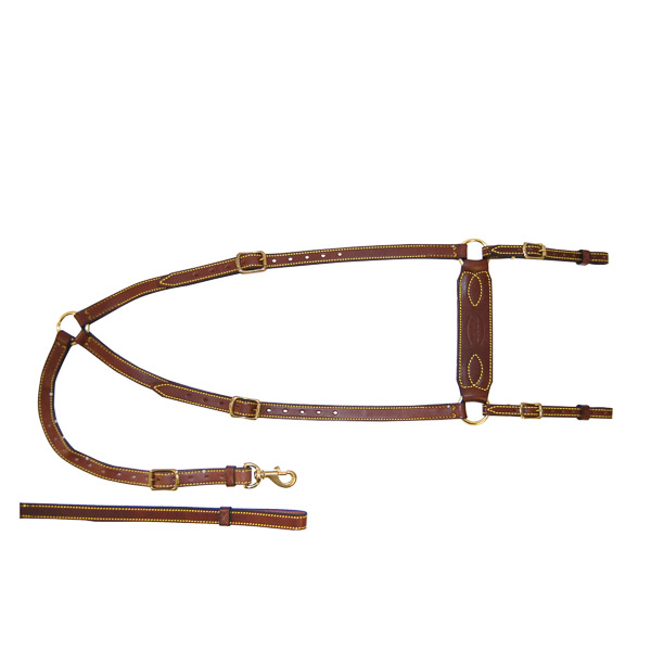 Leather Stockmans Breastplate, Edge SewnLeather Stockmans Breastplate, Edge Sewn on horse