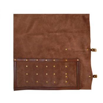 Roll Pouch, soft leather, for 5 Butchers Knives and Steel