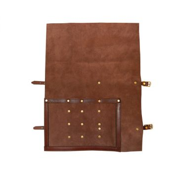 Roll Pouch, soft leather, for 3 Butchers Knives and Steel