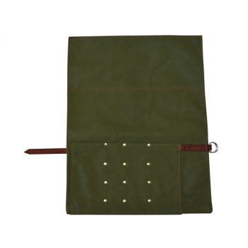 Roll Pouch, Canvas, for 3 Butchers Knives and Steel