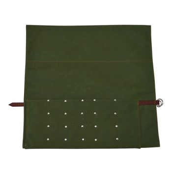 Roll Pouch, Canvas, for 5 Butchers Knives and Steel