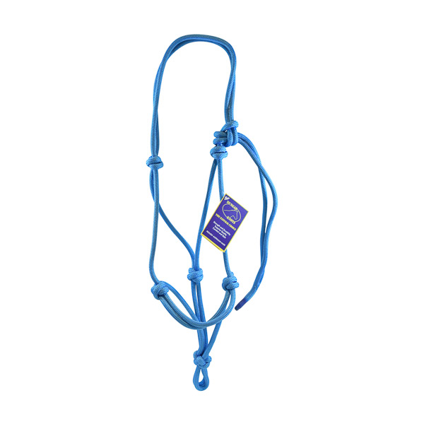 Halter, Headstall, Yachting Rope, 8mm - Blue