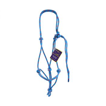Halter, Headstall, Yachting Rope, 8mm - Blue and Red
