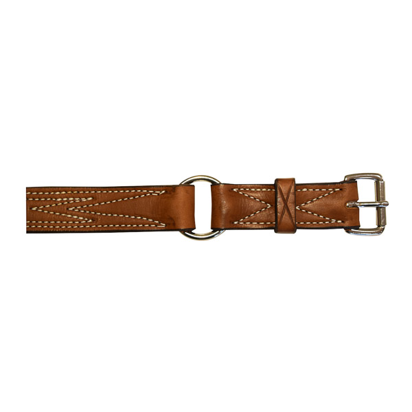 """Bull Strap, Solid Leather, 1 1/4"""" (32mm), on horse"""