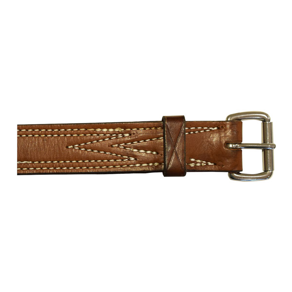 """Bull Strap, Solid Leather, No Ring, 1 1/4"""" (32mm) cu"""