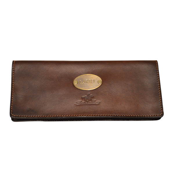 Cheque Book Cover, Solid Leather with plate