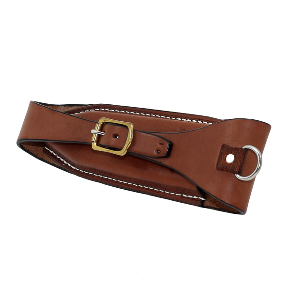 Pouch, Solid Leather, to fit on back of saddle cantle for Crescent Pliers 3