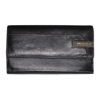 Purse, Solid Leather, Brigalow, Black