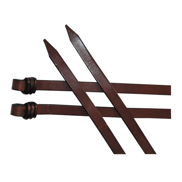 """Leather Reins, with Kimberley Knots, 5/8"""" (15mm)"""