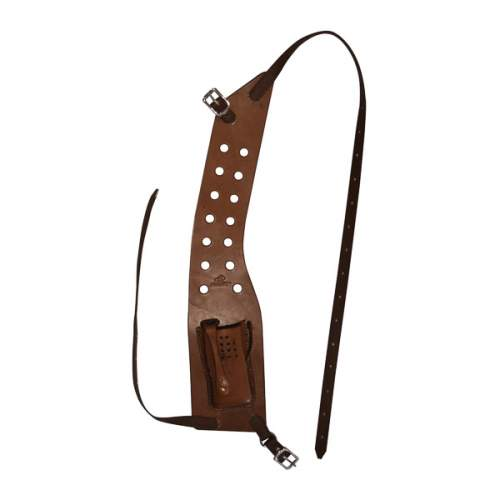 Radio Pouch, Solid Leather, Shoulder Style