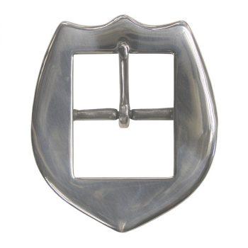 "Buckle, Shield, SS, 3.81cm (1 1/2"")"