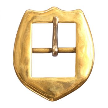 "Buckle, Shield, Brass, 3.81cm (1 1/2"")"