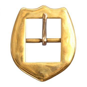 "Buckle, Shield, Brass, 3.81cm (1 1/2"")"