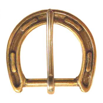 Buckle, Horseshoe, Brass