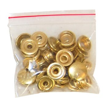 Press Studs, Large, Brass