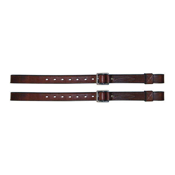 """Stirrup Straps, Solid Leather, Reinforced, 1 1/4"""" with keeps"""