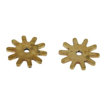 Spur Rowels, for Campdraft Spurs, Brass, Rounded