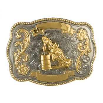Trophy Buckle, 10cm x 7cm, Barrel Racer