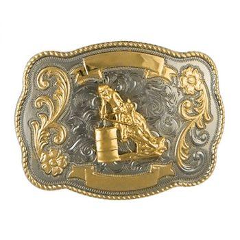 Trophy Buckle, 10cm x 7cm, Barrel Racer
