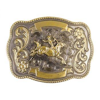 Trophy Buckle, 10cm x 7cm, Bronc Rider
