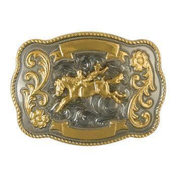 Trophy Buckle, 10cm x 7cm, Bareback Rider