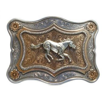 Trophy Buckle, 10cm x 7cm, Running Horse
