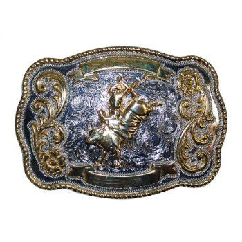 Trophy Buckle, Kids, 7cm x 5cm, Bull Rider