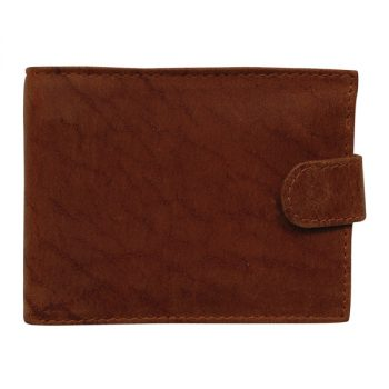 Wallet, Solid Leather, Hide and Chic, Brown with Clip