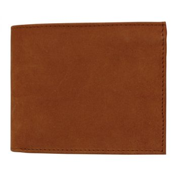Wallet, Solid Leather, Hide and Chic, Brown with Inside Clip