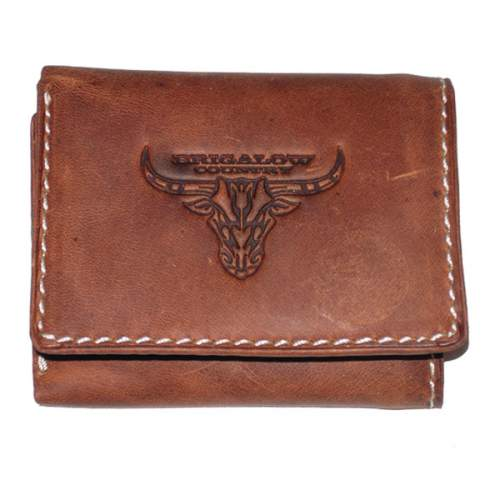 Wallet, Solid Leather, Short Style, Tri-fold, Brigalow Country Bulls Head