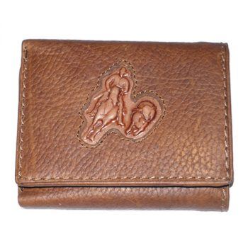 Wallet, Solid Leather, Short Style, Tri-fold, Campdrafter with Zip, Brown