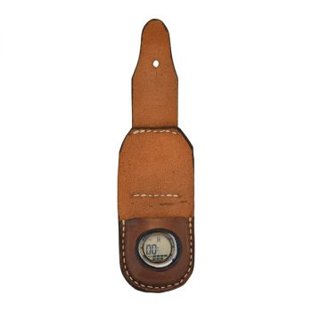 Pouch, Solid Leather, with Watch, Digital