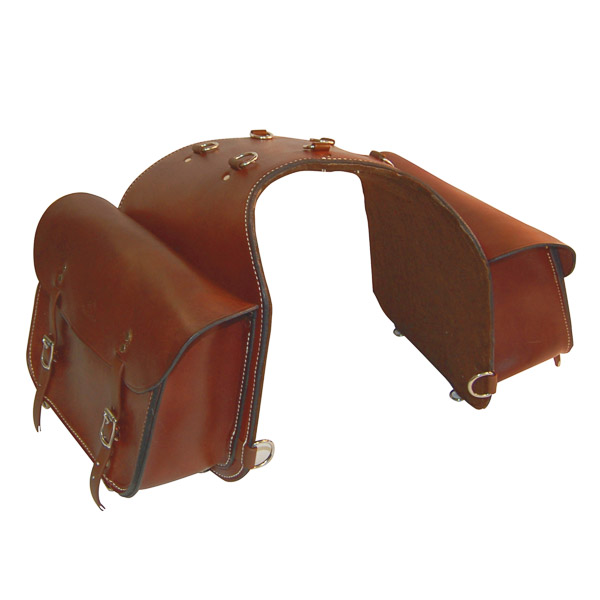 Motorbike Saddle Bag, Solid Leather