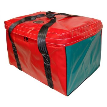 Vinyl Square Gear Bag with Top Flap