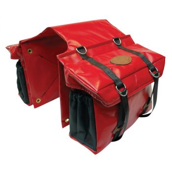 Motorbike Saddle Bag, Double, PVC