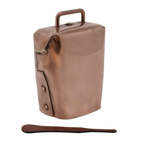 Condamine Cow Bell, with Leather Ringer - Copper
