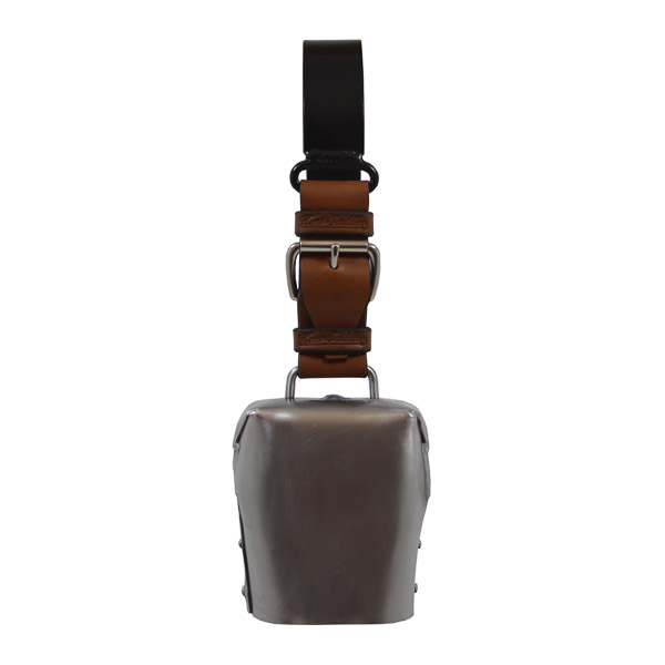 Condamine Cow Bell, with Leather Ringer, Leather Strap and Metal Hanger - Anvile