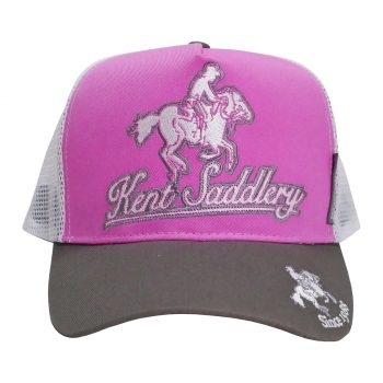 Cap, Kent Saddlery, Grey/Pink