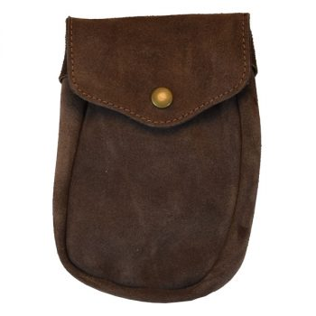 Bag Utility, Weatherproof, Suede Leather, Large, for Belt