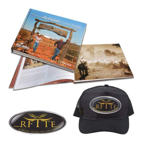 Book, Stories of Australian Country People, plus RFTTE Cap