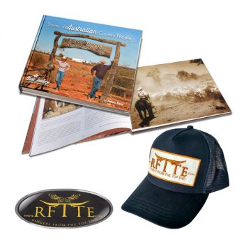 Book, Stories of Australian Country People, plus RFTTE Cap with free sticker