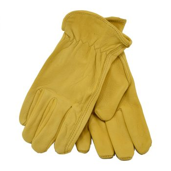 Glove, Gold Deerskin Driver Unlined
