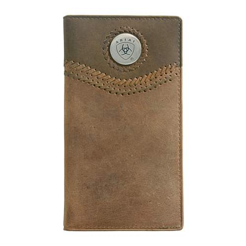 Wallet, Ariat, Tall, Curved Lacing