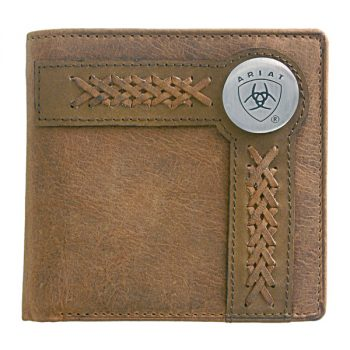 Wallet, Ariat, Bi-Fold, Edge Lacing