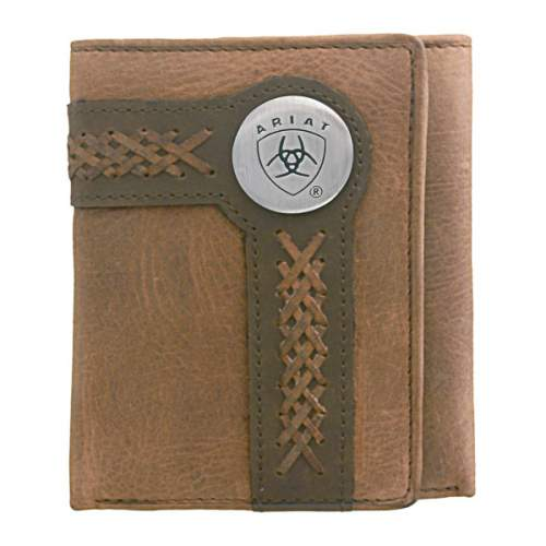 Wallet, Ariat, Tri-Fold, Edge Lacing