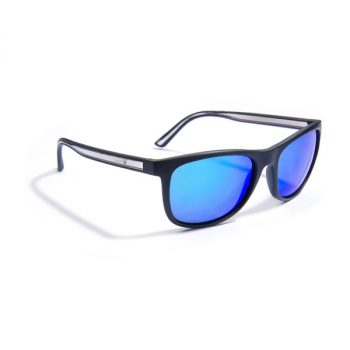 Sunglasses, Gidgee-Eyes, Fender – Blue, Matt Black Frame, Blue Revo Lens