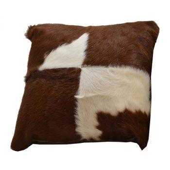 Cushion, Leather, Hair-on
