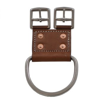 Girth Point Adaptor, Leather, 2 buckles and Cinch Lace Dee