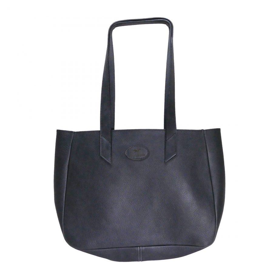 Bag, Heritage, Tote, Open, Leather - Grey