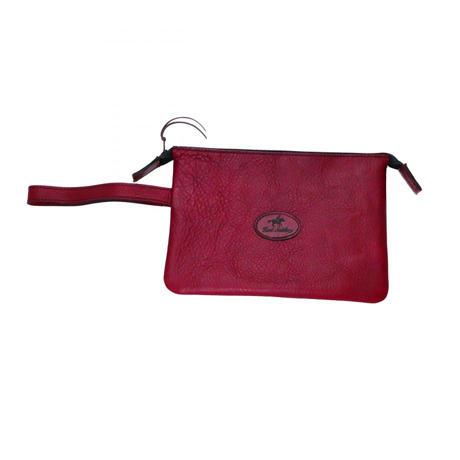 Purse, Heritage, Wristlet Clutch, Leather, Red